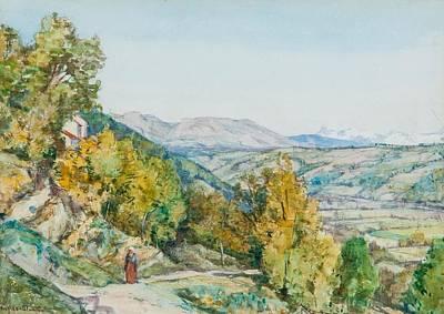 Lagnes Provence Art Print by MotionAge Designs