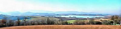 Photograph - Lago Di Chiusi Tuscany Panorama by Dorothy Berry-Lound