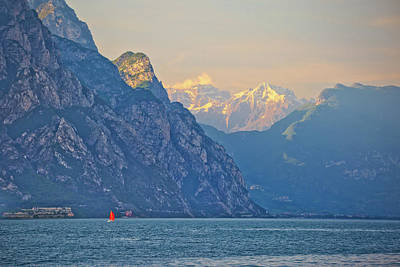 Photograph - Lago Di Garda And High Cliffs View by Brch Photography