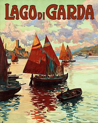 Lago Di Garda Lake, Italy Art Print