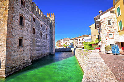 Photograph - Lago Di Garda Town Of Sirmione Landmarks View by Brch Photography