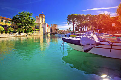 Photograph - Lago Di Garda Town Of Sirmione Turquoise Watefrront View by Brch Photography