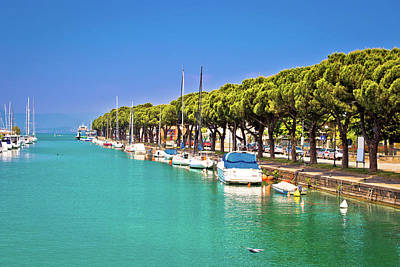 Photograph - Lago Di Garda Turquoise Harbor In Peschiera View by Brch Photography