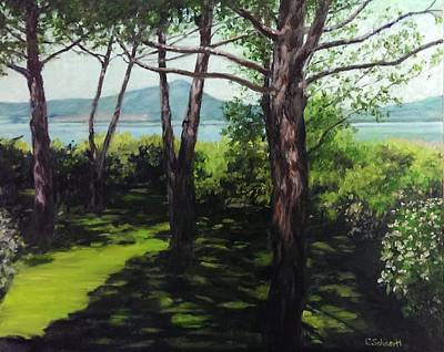 Painting - Lago Di Vico And The Garden From The Terrace by Connie Schaertl