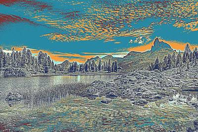 Park Scene Painting - Lago Federa Dolomites Mountains by Celestial Images
