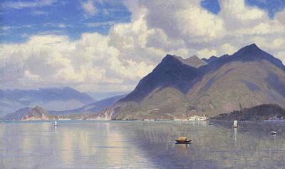 Maggiore Painting - Lago Maggiore by William Stanley Haseltine