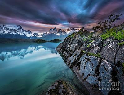 Argentina Photograph - Lago Pehoe Twilight by Inge Johnsson