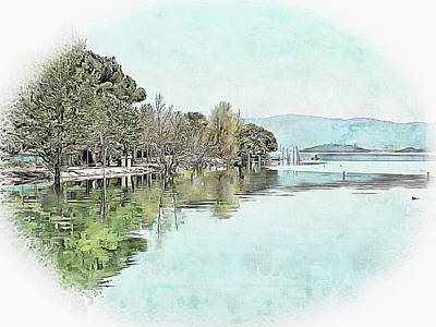 Photograph - Lago Trasimeno Island View by Dorothy Berry-Lound