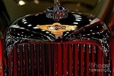 Photograph - Lagonda Badge by Wingsdomain Art and Photography