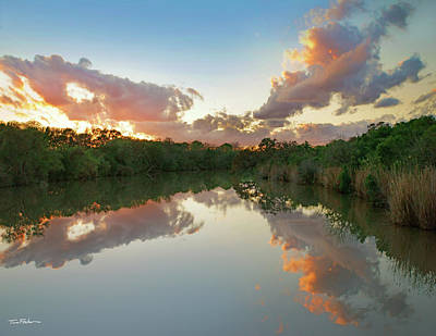 Photograph - Lagoon At Sunrise by Tim Fitzharris