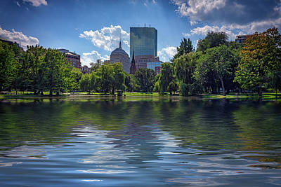 Photograph - Lagoon In Boston Public Garden by Rick Berk