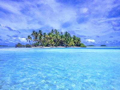 Rurutu Painting - Lagoon Islands At Rangiroa by Dominic Piperata