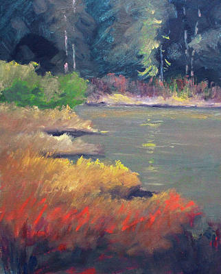 Painting - Lagoon by Nancy Merkle