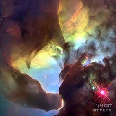 Telescopic Image Photograph - Lagoon Nebula by Merton Allen