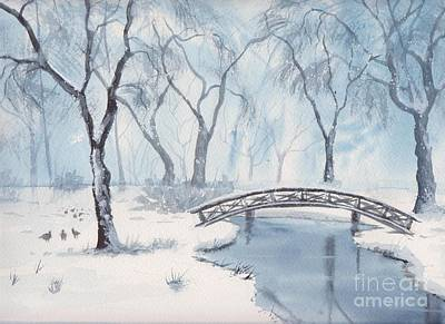 Painting - Lagoon Under Snow by Yohana Knobloch
