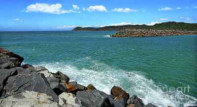 Photograph - Lagoon View North Haven Breakwater By Kaye Menner by Kaye Menner