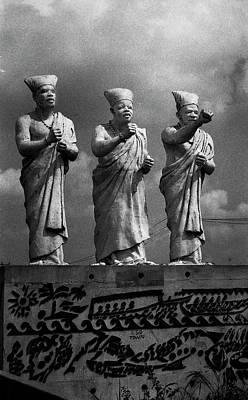 Photograph - Statues Of Three White-cap Chiefs--v by Muyiwa OSIFUYE