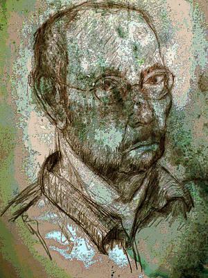 Self-portrait Mixed Media - Lagrand M by noredin Morgan