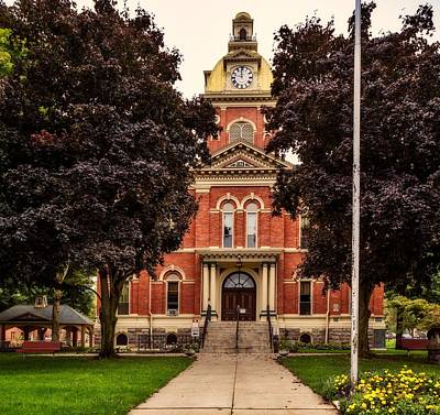 Photograph - Lagrange County Courthouse - Indiana by L O C