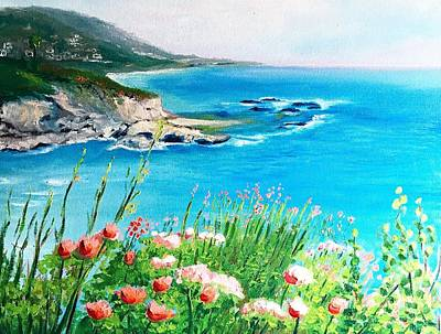Laguna Beach Drawing - Laguna Beach Ca by Armando Renteria