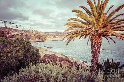 Laguna Beach Wall Art - Photograph - Laguna Beach California Retro Photo by Paul Velgos