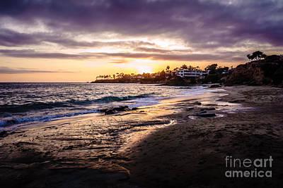 Southern California Sunset Beach Photograph - Laguna Beach California Sunset Photo by Paul Velgos