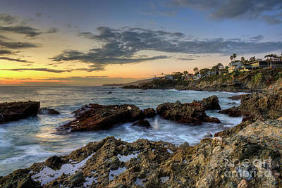 Photograph - Laguna Beach Coastline by Eddie Yerkish
