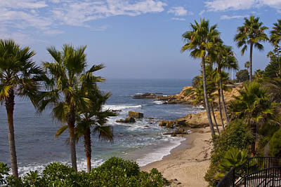 Photograph - Laguna Beach Coastline by Lou Ford