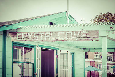 Crystal Cove Photograph - Laguna Beach Crystal Cove Sign Picture by Paul Velgos