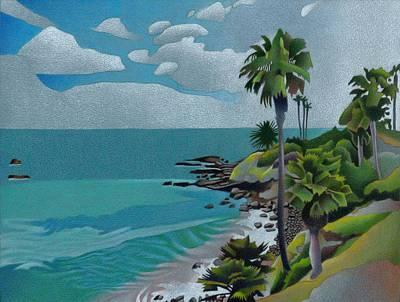 Drawing - Laguna Beach by Dan Miller