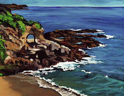 Laguna Beach Painting - Laguna Beach En Plein Air by Signature Laurel