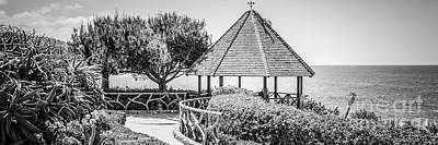 Shack Photograph - Laguna Beach Gazebo Black And White Panorama by Paul Velgos