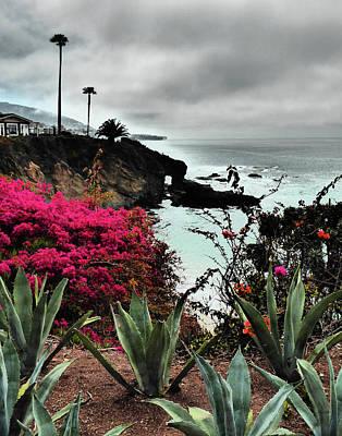 Laguna Beach Painting - Laguna Beach In Fog by Janice Sobien