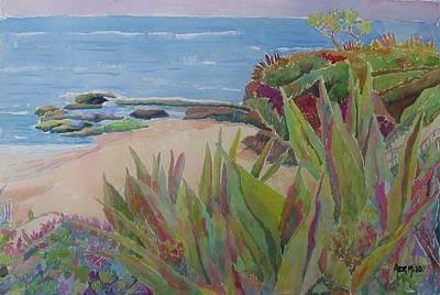 Laguna Beach Landscape Art Print by Azor Martinez