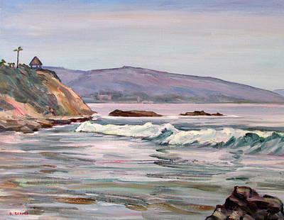 Laguna Beach Painting - Laguna Beach Mood by Robert Gerdes