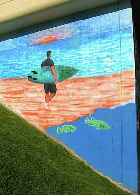 Photograph - Laguna Beach Mural by Connie Fox