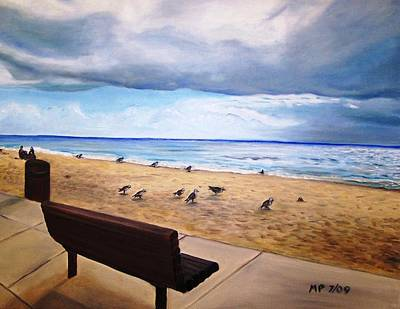 Laguna Beach On A Stormy Day Art Print by Madeleine Prochazka