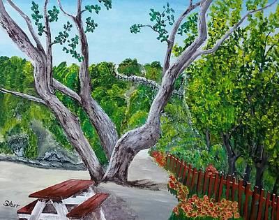 Laguna Beach Painting - Laguna Beach Picnic Area by Irving Starr