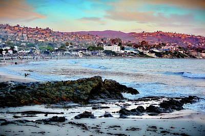 Photograph - Laguna Beach Red Sunset by Jenny Simon Photography