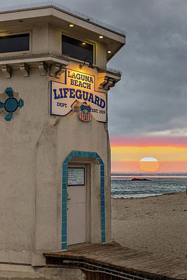 Photograph - Laguna Beach Sunset by Peter Tellone