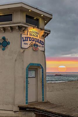 Photograph - Laguna Beach Sunset by Peter Tellone