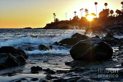 Photograph - Laguna Beach Sunset Rocks by Jenny Simon Photography