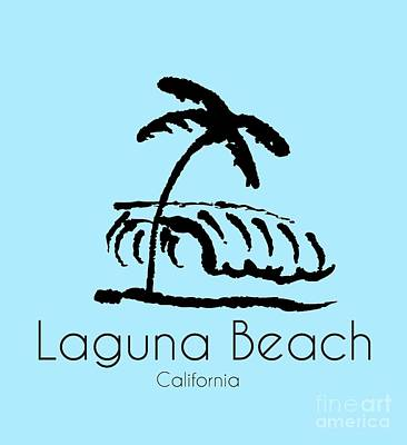 Laguna Beach Drawing - Laguna Beach Tee Shirt by K D Graves