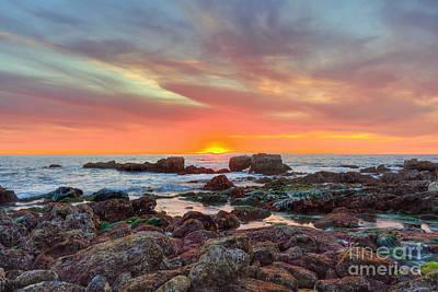 Laguna Beach Digital Art - Laguna Beach Tide Pools At Sunset by Eddie Yerkish