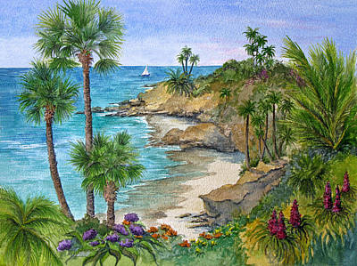 Laguna Beach Painting - Laguna Beach Vista by Bonnie Sue Schwartz