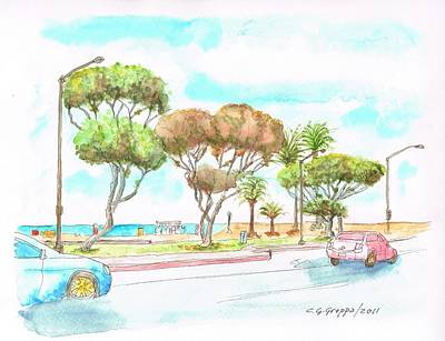 Laguna Beach Painting - Laguna Beach Waterfront - California by Carlos G Groppa