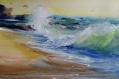Painting - Laguna Beach Wave South View by Sandra Strohschein