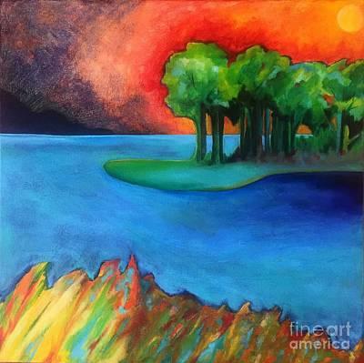 Painting - Laguna Blu by Elizabeth Fontaine-Barr