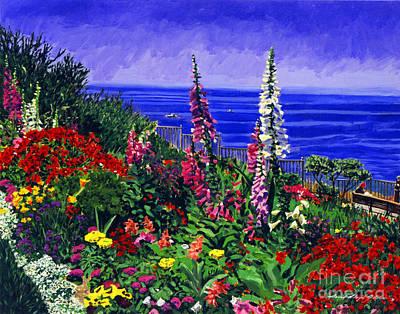 Hollyhock Painting - Laguna Niguel Garden by David Lloyd Glover