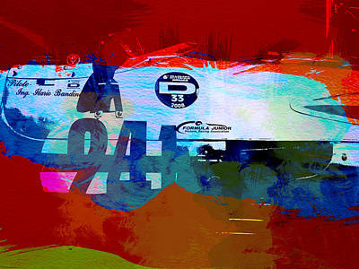 Old Cars Painting - Laguna Seca Racing Cars 1 by Naxart Studio